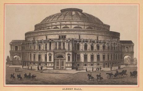 "Anonymous: Royal Albert Hall. c1890. An original black & white antique photo-gravure. 5"" x 4"". [LDNp10817]"