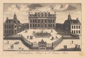 "Stow: Buckingham House. c1750. An original antique copper engraving. 9"" x 6"". [LDNp10881]"