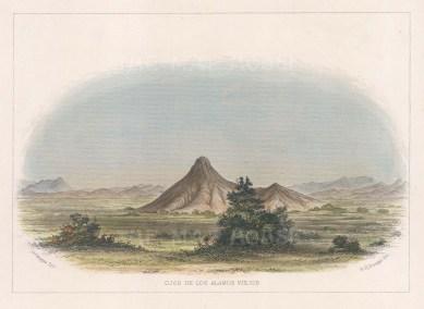 """Emory: Ojos de los Alamos Viejos, New Mexico. c1859. A hand coloured original antique lithograph. 7"""" x 5"""". [USAp4012]"""