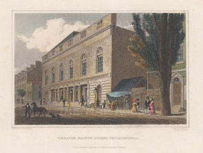 Philadelphia: Front elevation of Walnut Street Theatre.