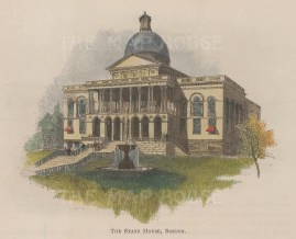 Boston: Front elevation of the State House.