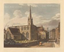 """Ackermann: Trinity Church. 1815. An original colour antique aquatint. 10"""" x 8"""".[CAMBSp442]"""