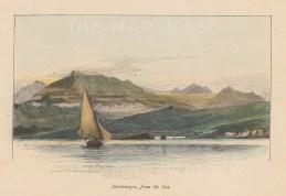 "Picturesque Mediterranean: Montenegro. 1876. A hand coloured original antique wood engraving. 6"" x 4"". [CEUp487]"