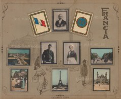 France: Mounted set of hand coloured photographic cigarette cards issued by Cigarros Susini.