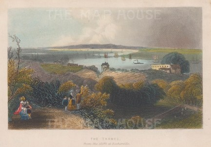 Thames: View from the cliffs at Rosherville