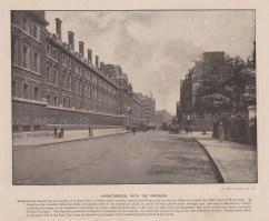 """Cassell & Co.: Knightsbridge Barracks. c1900. An original antique photo-gravure. 10"""" x 8"""". [LDNp10267]"""