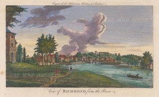 "Harrison: Richmond. 1775. A hand coloured original antique copper engraving. 14"" x 7"". [LDNp10351]"