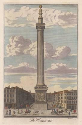 "Toms: Monument. c1780. A hand coloured original antique copper engraving. 8"" x 14"". [LDNp8267]"