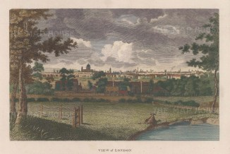 London: View from the south with St. Paul's in the distance