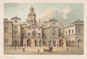 "Nelson: Horse Guards. c1889. An original antique chromolithograph. 5"" x 4"". [LDNp9600]"