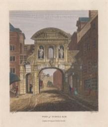 "Stockdale: Temple Bar. 1799. A hand coloured original antique copper engraving. 7"" x 9"". [LDNp9737]"