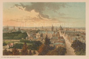 Panoramic view from Magdalen tower.