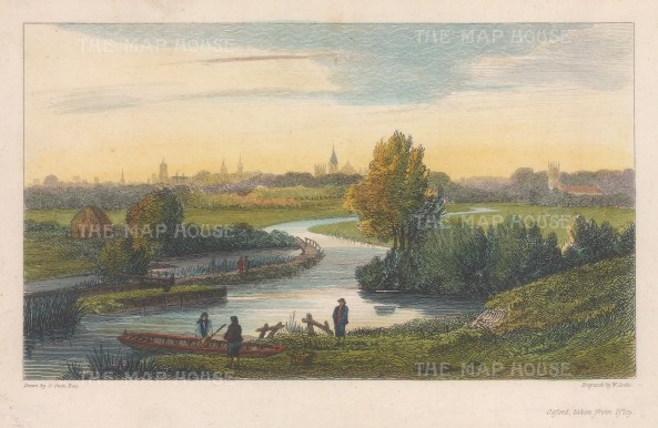 View from Iffley. Looking down the river Thames.