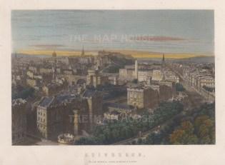 "Mackenzie: Edinburgh. c1840. A hand coloured original antique steel engraving. 8"" x 6"". [SCOTp1706]"