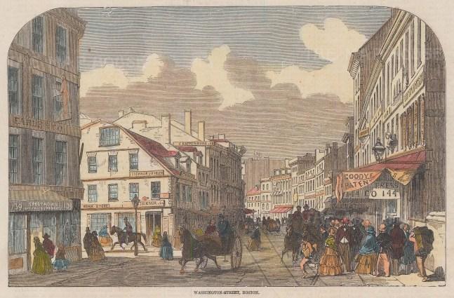 Boston: View of Washington Street.