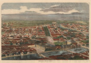 """Illustrated London News: Berlin. 1858. A hand coloured original antique wood engraving. 14"""" x 10"""". [GERp1202]"""
