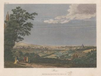 "Owen: Rome. 1809. A hand coloured original antique copper engraving. 9"" x 7"". [ITp2067]"