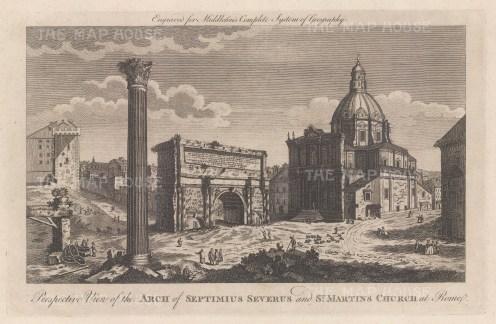 Arch of Septimius Severus: With Santi Luca e Martina church.