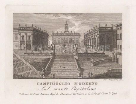 View up the cordonata to the Palazzo Senatorio.