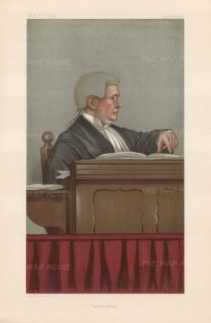 'Steady going': Justice Sir Matthew Joyce. SPY.