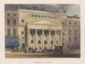 "Tallis: Haymarket Theatre. 1851. A hand coloured original antique steel engraving. 4"" x 3"". [LDNp10236]"