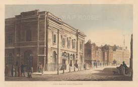 The new theatre built in 1811 and designed by Benjamin Wyatt replaced an earlier building by Henry Holland, which had burnt down.