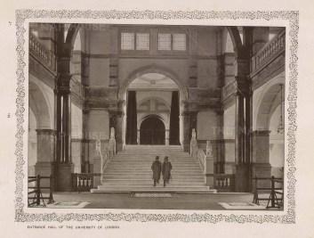 "King: University of London. c1890. An original black & white photo-gravure. 10"" x 8"". [LDNp10460]"