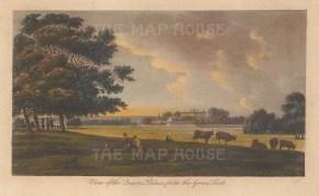 "Robertson: Buckingham Palace. 1791. A hand coloured original antique copper engraving. 7"" x 5"". [LDNp10516]"