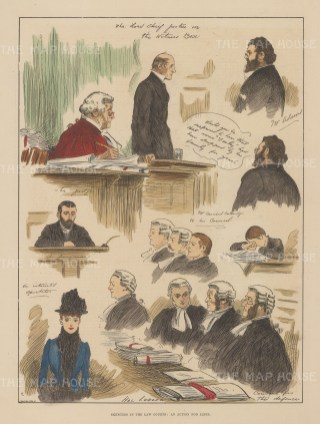 Celebrated libel case of Charles Adams v his father in law, Lord Chief Justice Coleridge, and brother in law following his elopement.