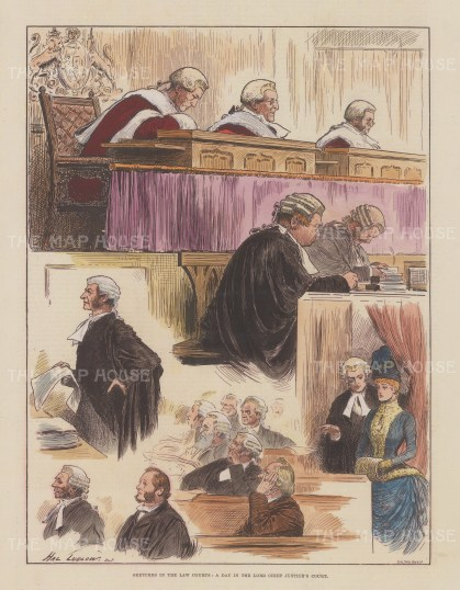 Five vignettes of a day in the Lord Chief Justice's court.