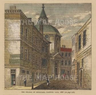 View in Warwick Lane in 1868.