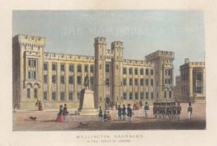 View of Waterloo (Wellington) Barracks home to the Crown Jewels.