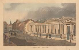"Papworth: Carlton House. 1816. An original colour antique aquatint. 8"" x 6"". [LDNp2791]"