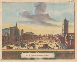 "van der Aa: Westminster. 1727. A hand coloured original antique copper engraving. 7"" x 5"". [LDNp9536]"