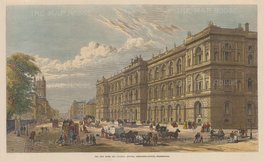 View of the New Home and Colonial Offices, Parliament Street.