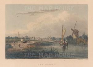 "Fullarton: Hague, Netherlands. 1856. A hand coloured original antique steel engraving. 5"" x 4"". [NETHp210]"