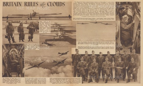 Britain rules the Clouds. With text relating to the RAF's World Long distance record.