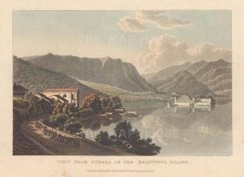Lago Maggiore: Borromeo Islands. View of Isola Bella from Stresa.