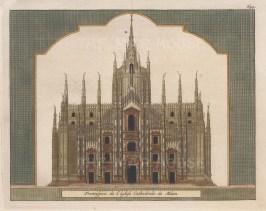 Milan: Front elevation of the Duomo di Santa Maria Nascente.
