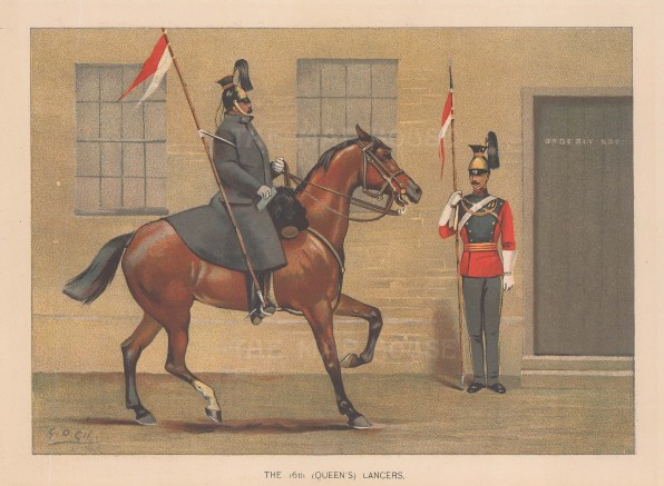 16th Queen's Lancers, amalgamated to the Queen's Royal Lancers.