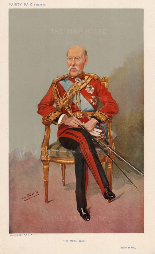 Household Cavalry. Lt General Lord de Ros. Life Guards. SPY.