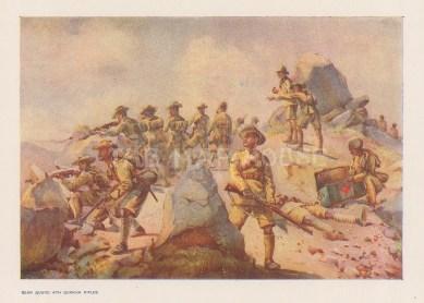 Rear Guard 4th Ghurkha rifles. After Maj. Alfred Lovett.