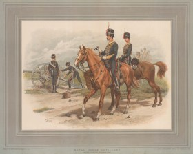 "Green: Royal Horse Artillery. An original antique chromolithograph. 20"" x 13"". [MILp16]"