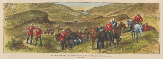 Battle of Laings Neck. Sir George Colley's Staff before the battle.