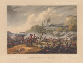 Battle of Maida, 1806. After William Heath.