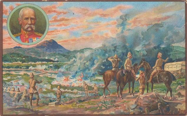 Battle of Paardeberg. Regiments under Geberak Cronje and Lord Roberts.