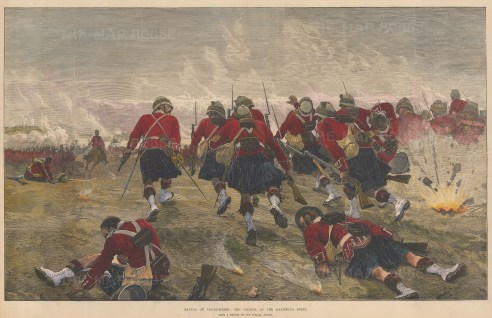 Battle of Tel -El-Kebir. Charge of the Highland Brigade.