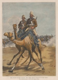 Egyptian Camel Corps. En route to Wady Halfa