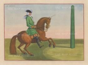 "Eisenberg: Le Mignon. 1727. A hand coloured original antique copper engraving. 13"" x 10"". [NATHISp2706]"