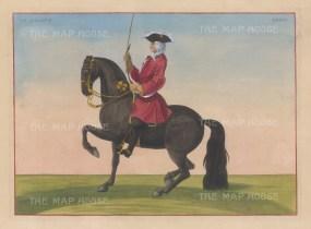 "Eisenberg: Le Galant. 1727. A hand coloured original antique copper engraving. 12"" x 9"". [NATHISp5340]"